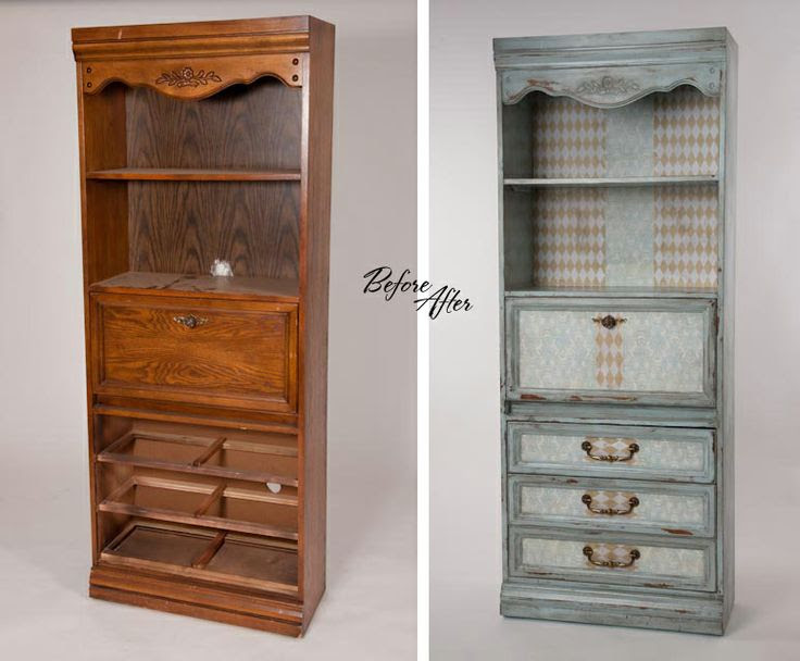 DIY before and after furniture, a thrift store find....this piece looks exactly like a piece of furniture Gloria used to own