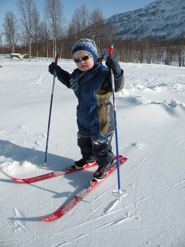 Endre is cross-country skiing :)