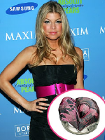 Fergie wearing Swarovski Heart Rosaline Satin Ring