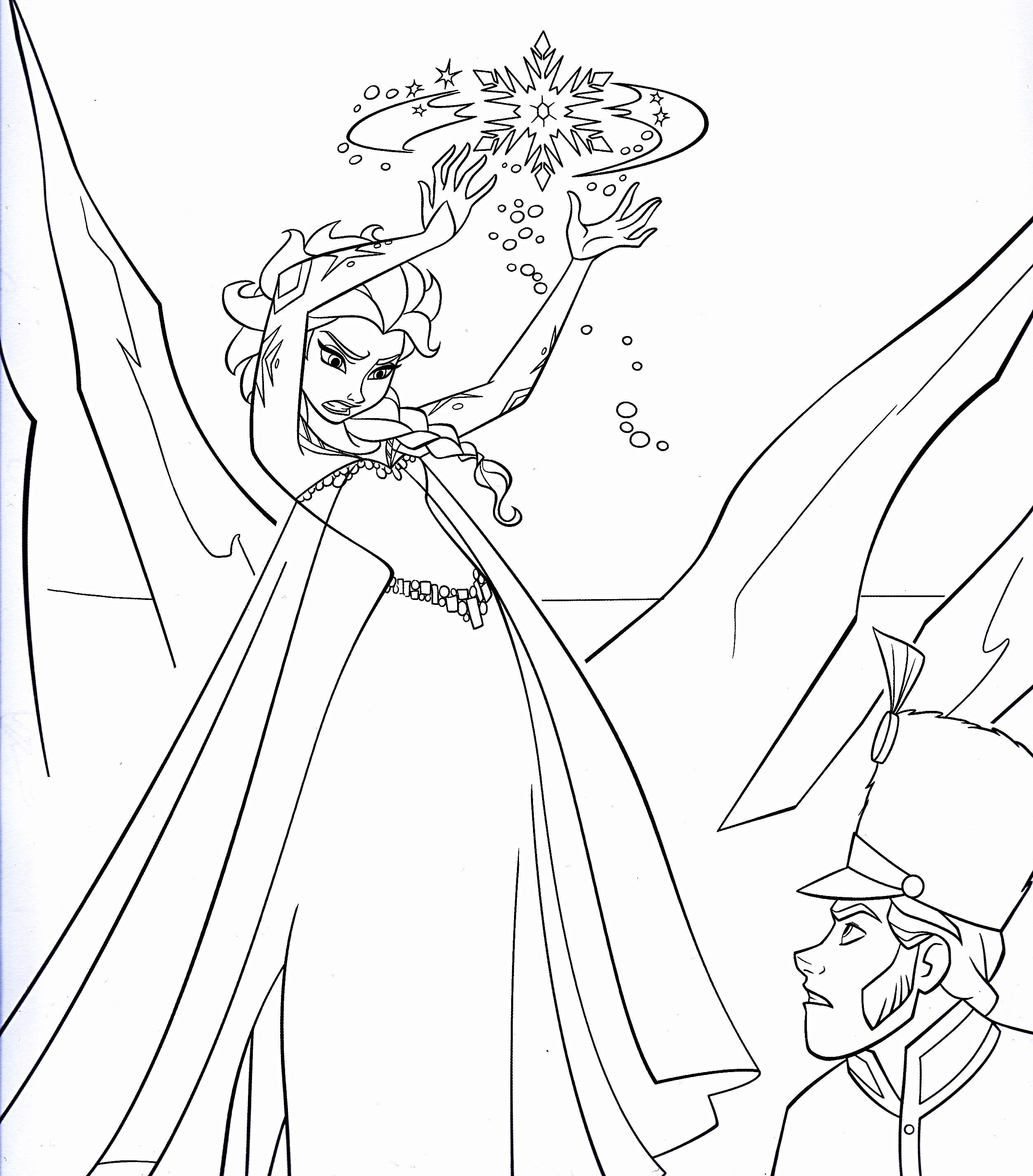 Queen Elsa Coloring Page Auto Electrical Wiring Diagram