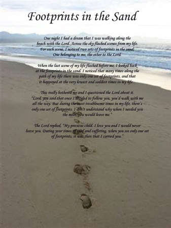 Footprints In The Sand Prayer Wallpapers Footprints In The Sand