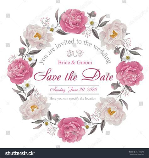Flower Wedding Invitation Card, Save The Date Card