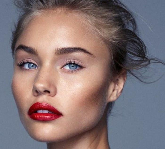Make Up Helle Haut Dunkle Haare Blaue Augen   Augen DE