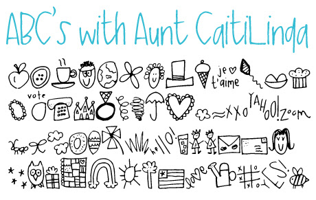 click to download ABC's with Aunt Caiti Linda