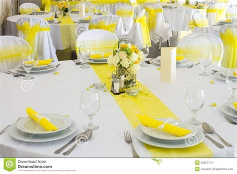 Wedding table decoration stock photo. Image of festive
