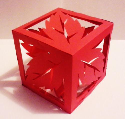 вырезать из бумаги дизайн Куб с мяты Дизайн