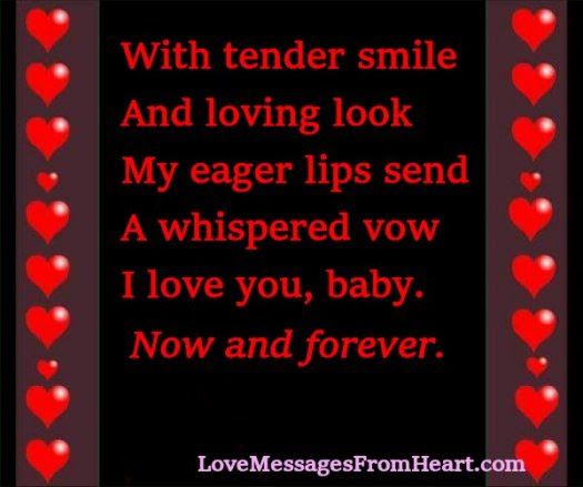 I Love You Baby Love Messages From The Heart