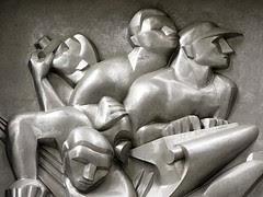 News (detail) by Isamu Noguchi, Associated Press Building, Rockefeller Center, NYC