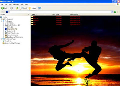 Bosan dengan tampilan background flash disk yang  Customizing Flash Disk Background Image