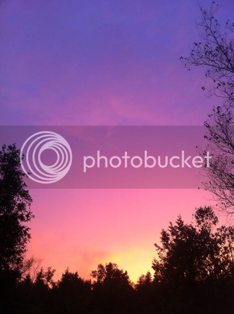 A Saint John New Brunswick sunset