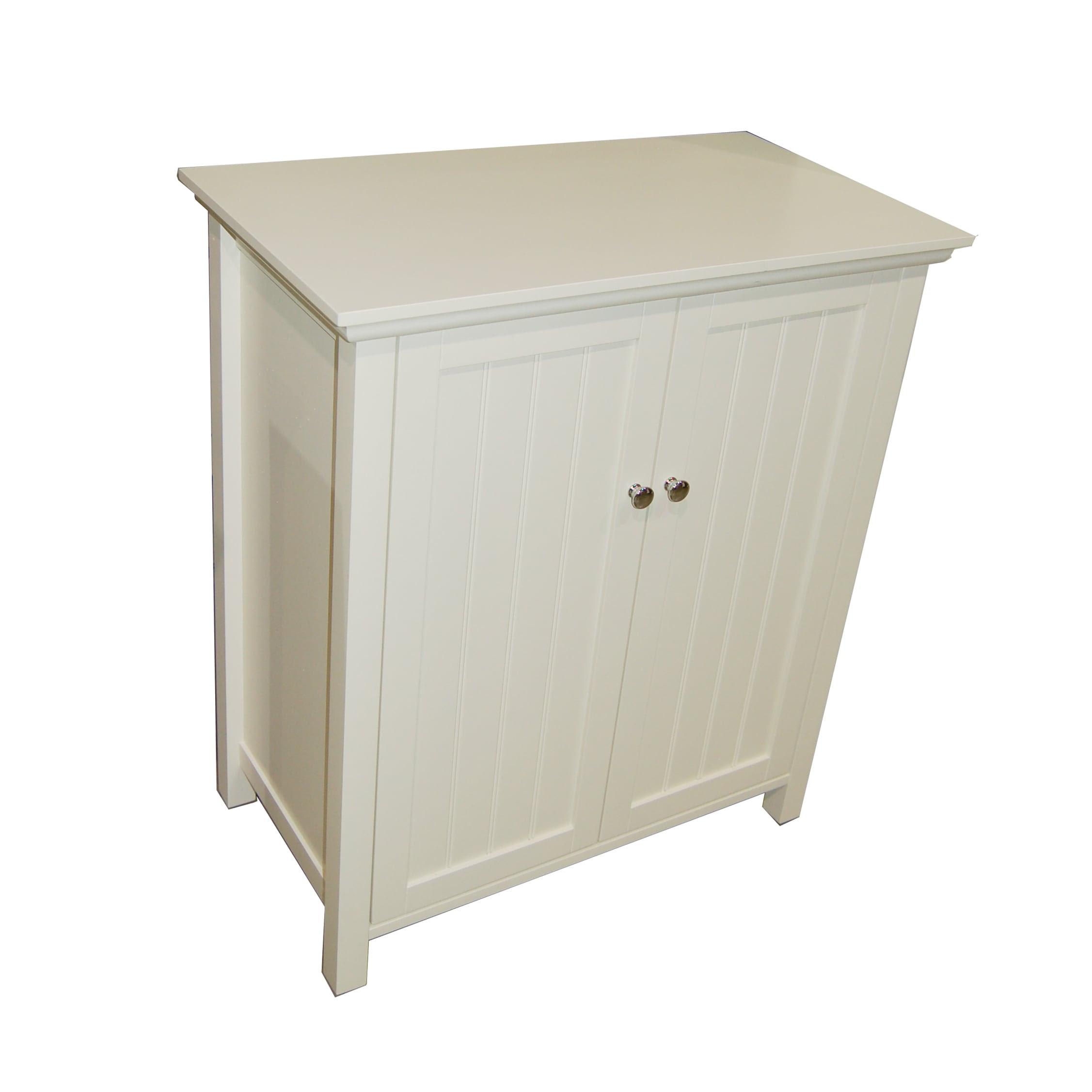 Simple Living Antique White Bathroom Floor Cabinet ...