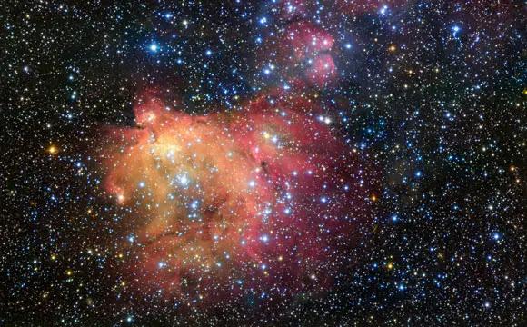 New ESO Image of the Colorful Emission Nebula LHA 120-N55