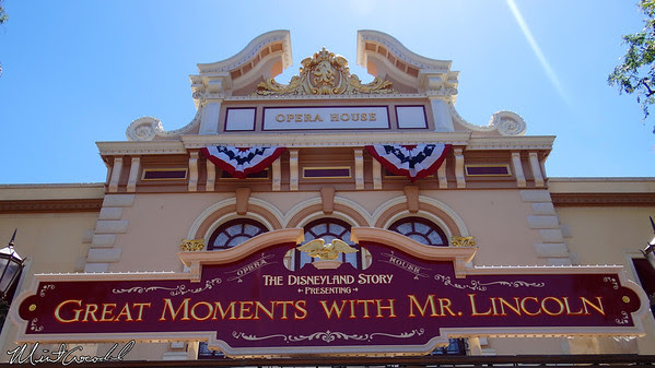 Disneyland Resort, Disneyland, Main Street U.S.A., Opera House, Lincoln