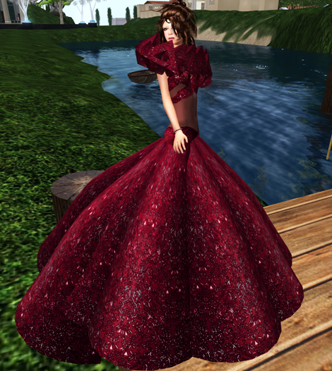 NEW! *Bliss Couture* Sadie Gown (Ruby)