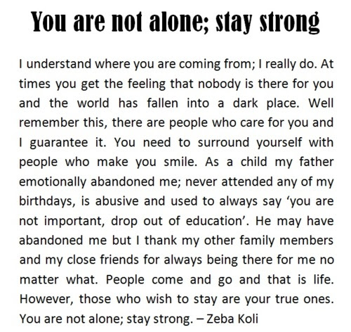 You Are Not Alone Stay Strong Quotespicturescom
