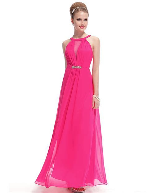 Hot Pink Bridesmaid Dresses 2016 vestidos de graduacion