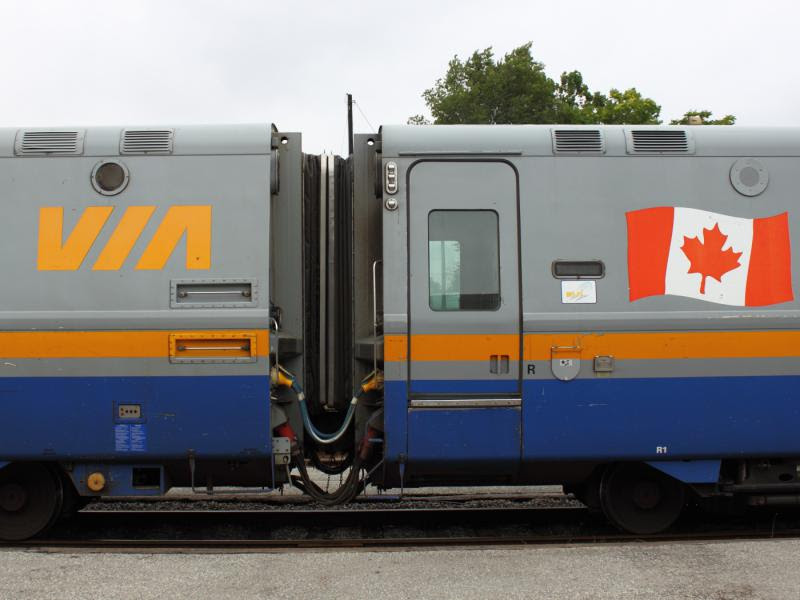 VIA LRC cars coupled
