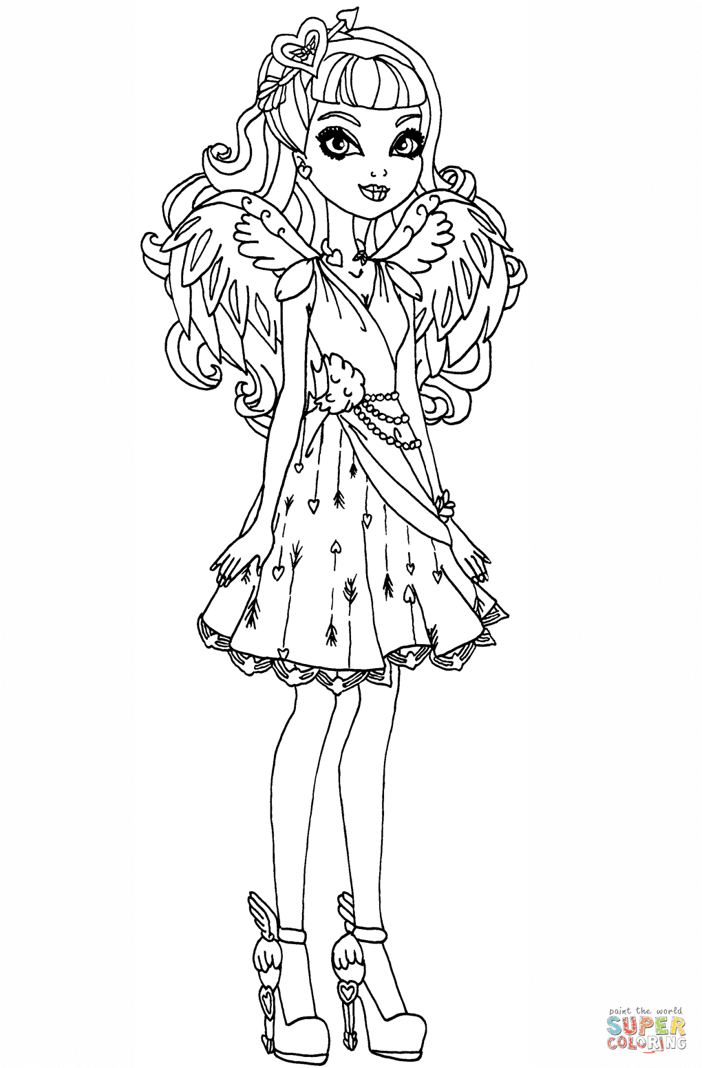 Ever After High Kitty Cheshire Coloring Pages At Getdrawingscom