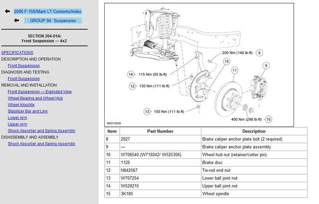 Wiring Diagram Database: 2001 Ford F150 4x4 Front ...
