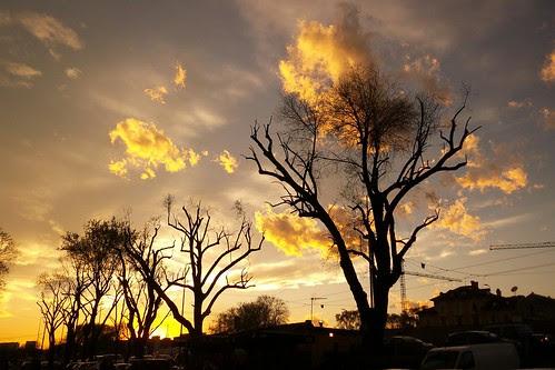 Tramonto con le #nuvole di fine #marzo by Ylbert Durishti