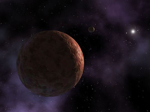 An artist's concept of the planetoid Sedna...which is one of the farthest known objects in our Solar System.