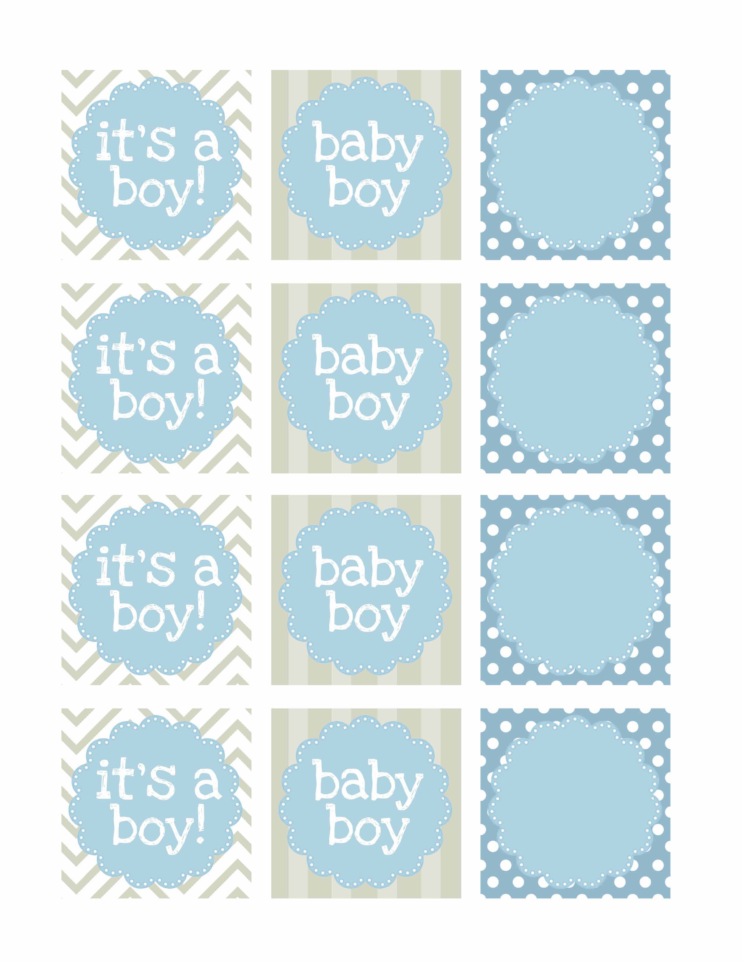 Boy Baby Shower Free Printables - How to Nest for Less