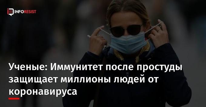 Ученые: Иммунитет после простуды защищает миллионы людей от коронавируса