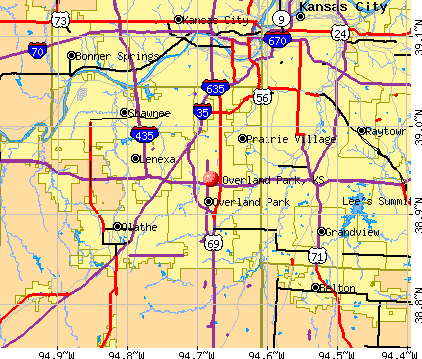 Overland Park, KS map. General Map; Google Map; MSN Map