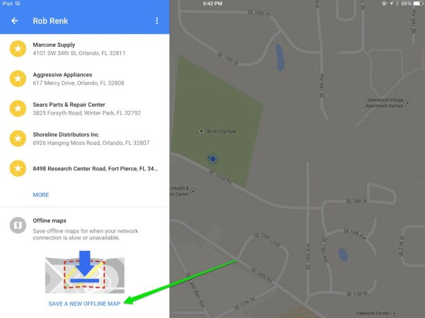How To Create And Save An Offline Google Map On Your Ipad