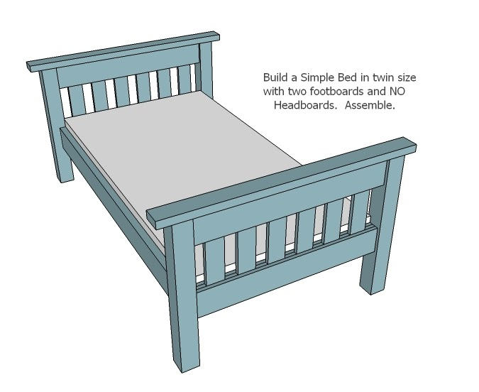 Twin Bed Woodworking Plans In Sketchup Ideas Plan Design
