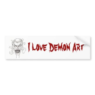 Demon Art bumpersticker