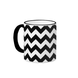 Black and White Zigzag Mug