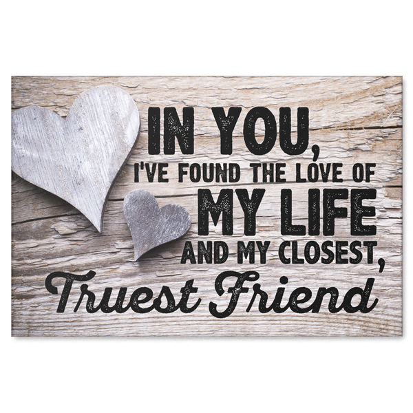 Canvas Wall Art For Couples Love Of My Life Closest Friend