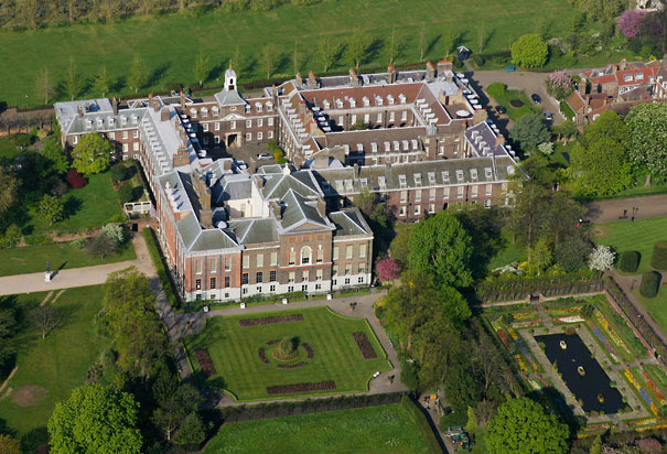 Aerial-view of Kensington Palace London