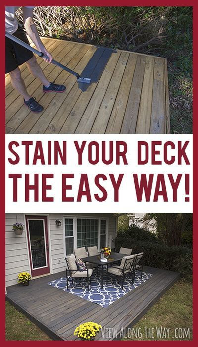 Tricks to stain your deck quickly and easily!  It's that time of the year again!  Spring cleaning
