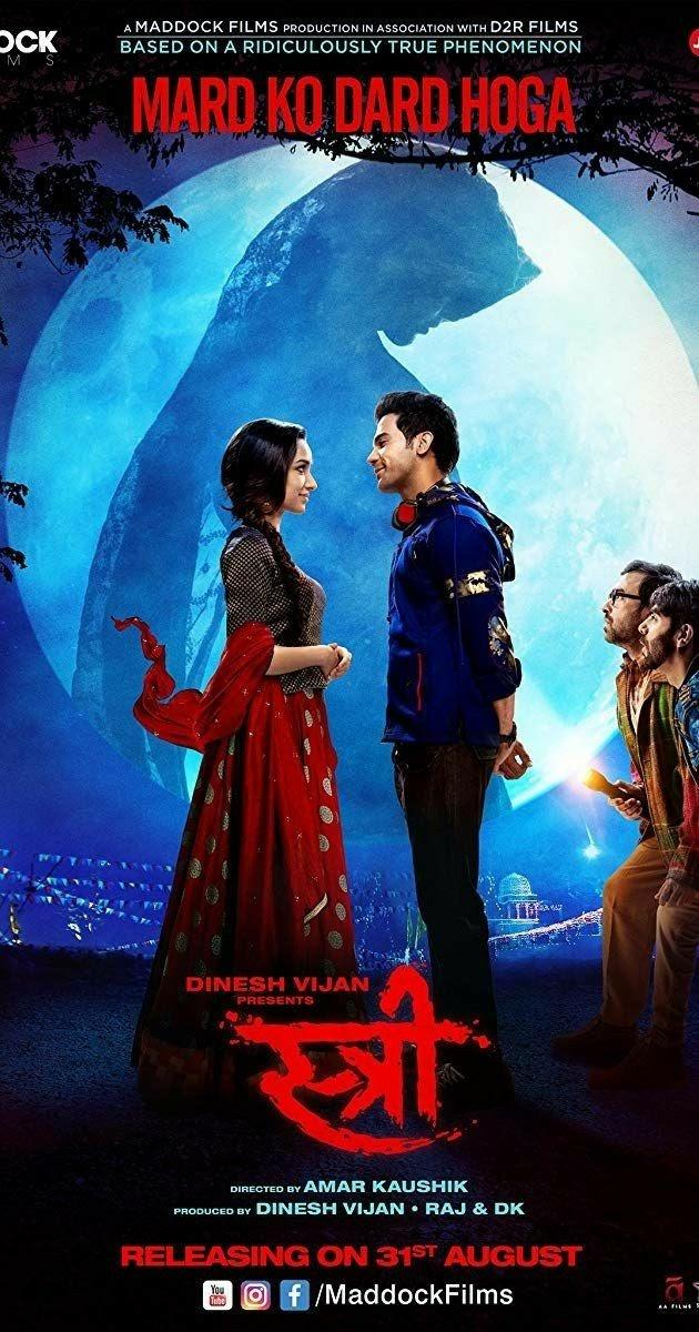 Stree (2018) Hindi 480p | 720p | 1080p NF WebRip Full Movie