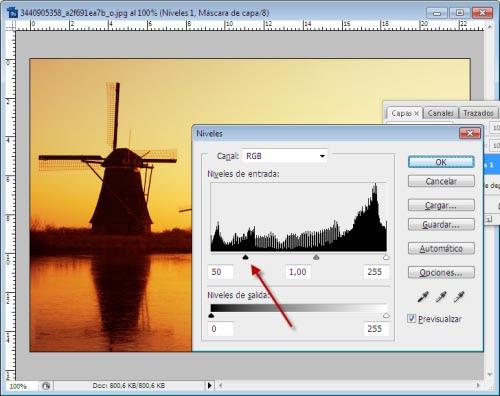 Atardeceres y Amaneceres en Photoshop - Paso 7