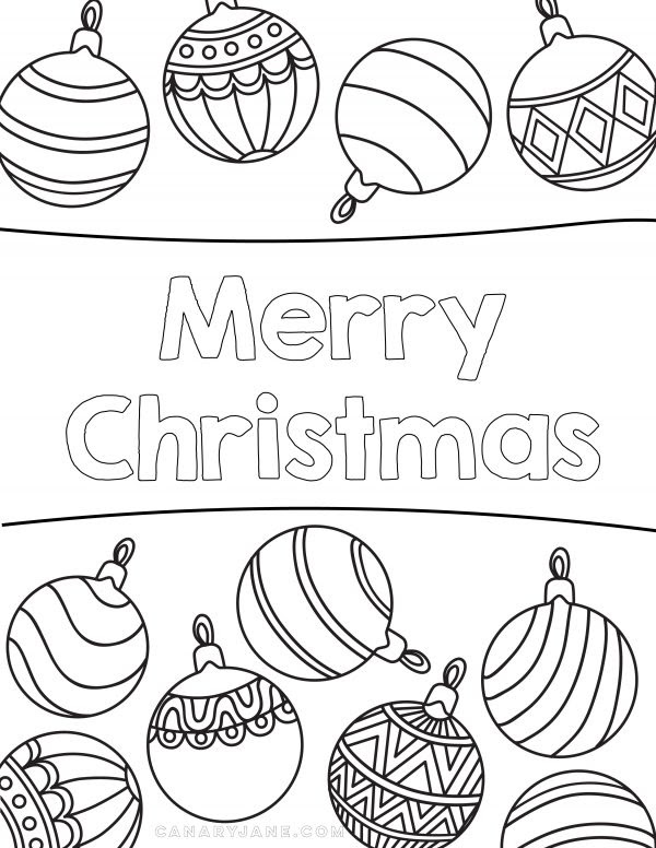 Free Christmas Coloring Pages & Printables - Design Dazzle