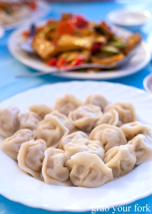 pelmeni dumplings at Berezka Restaurant, Russian Club, Strathfield
