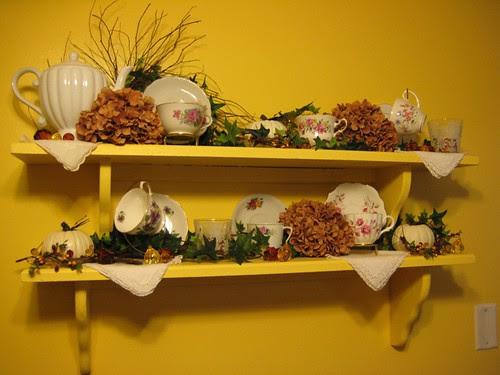 Autumn teacups