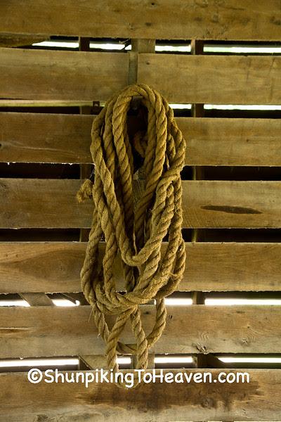 Rope in Old Corn Crib, Delaware County, Iowa