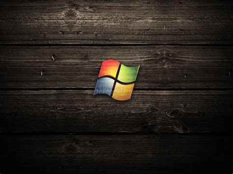 vista wood logo wallpaper desktop pc  mac