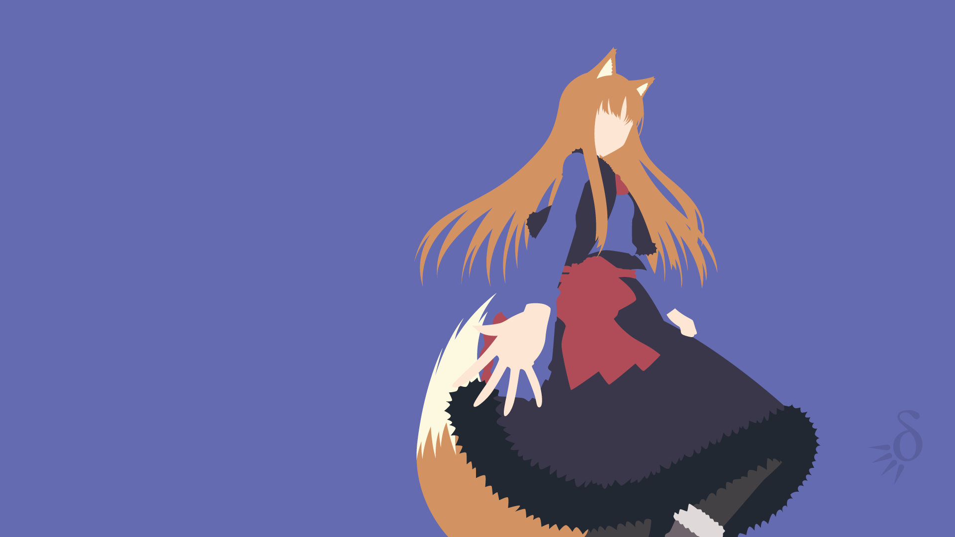 Wallpaper Horo In The Field Anime Wolf And Spice Wolf And Spice