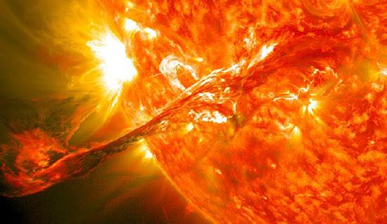 Explosão solar idade da pedra apocalíptico