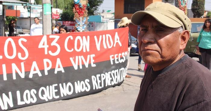 """""""Atenco no olvida ni olvidará jamás la represión que fue en el 2006 a nuestra comunidad"""". Foto: Luis Barrón, SinEmbargo"""