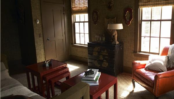 Red Nesting Tables - Asian - living room - Kohler