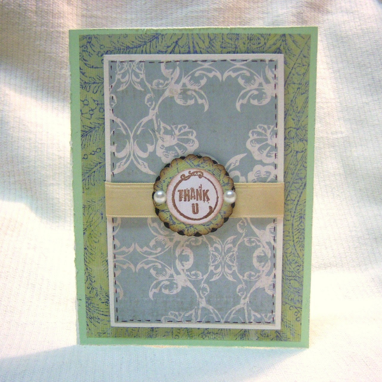 Shabby Vintage Thank You Greeting Card
