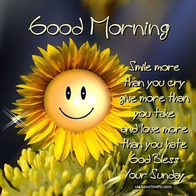 Good Morning Smile God Bless Your Sunday Pictures Photos And