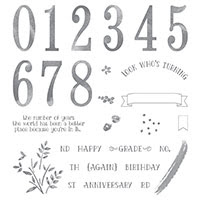 Number of Years Photopolymer Stamp Set by Stampin' Up!