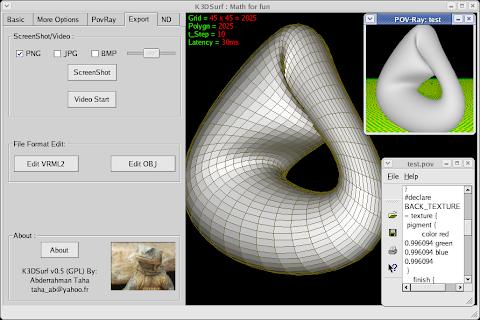 K3DSURF: Gráficos 3D de las funciones matemáticas